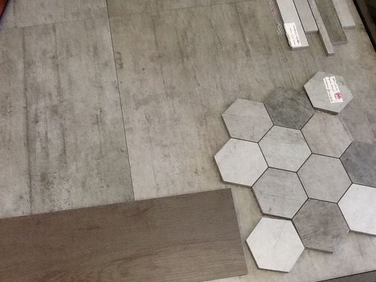 Honeycomb Tile For Feature Wall In Shower And Concrete Tile For Floor