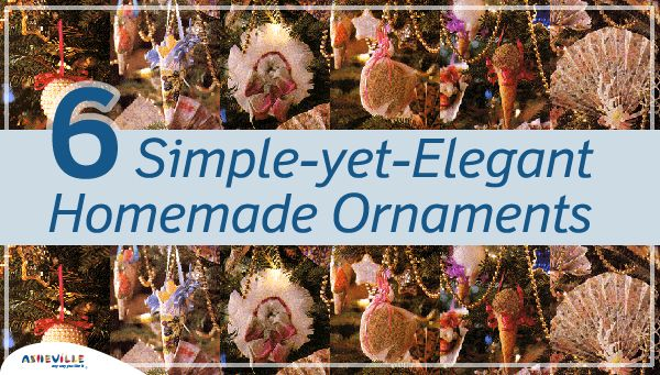 6 Simple-yet-Elegant Homemade Ornaments | ExploreAsheville.com #christmas #holidays #ornaments #diy