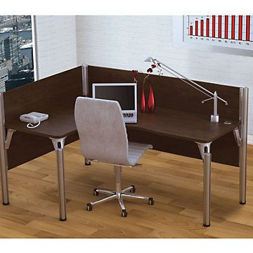 Corner Desk, Modern Home Office, Pro Biz Single Left-Hand L-Station