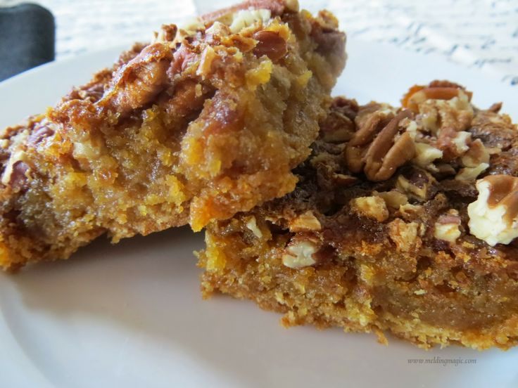 Pecan Pie Surprise Bars! Cookie and pie all rolled into one. MMMmmm...