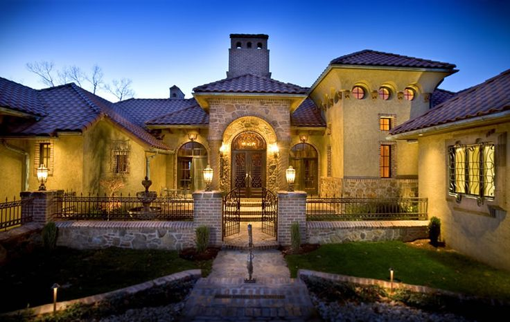 Old world tuscan exterior ideas pinterest for Old world house plans