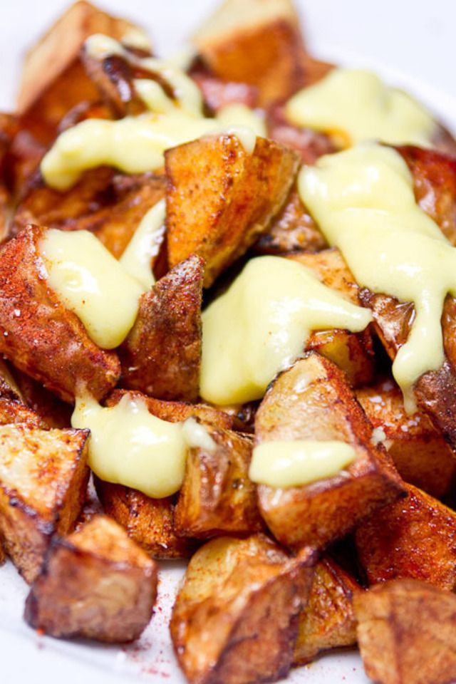 Patatas Bravas with Allioli | Food and Libations | Pinterest