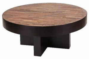 Large Round Wood Coffee Table Home Interior Pinterest