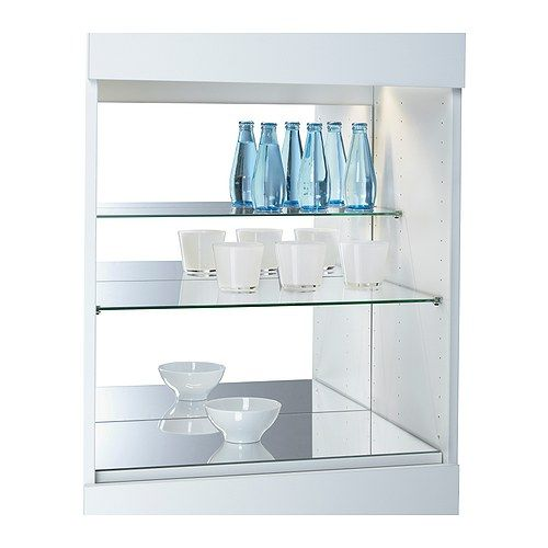 Securing Ikea Island To Floor ~   glass shelf insert IKEA Turns your storage unit into a display cabinet