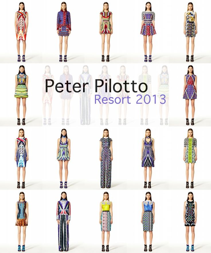 Peter Pilotto Resort 2013