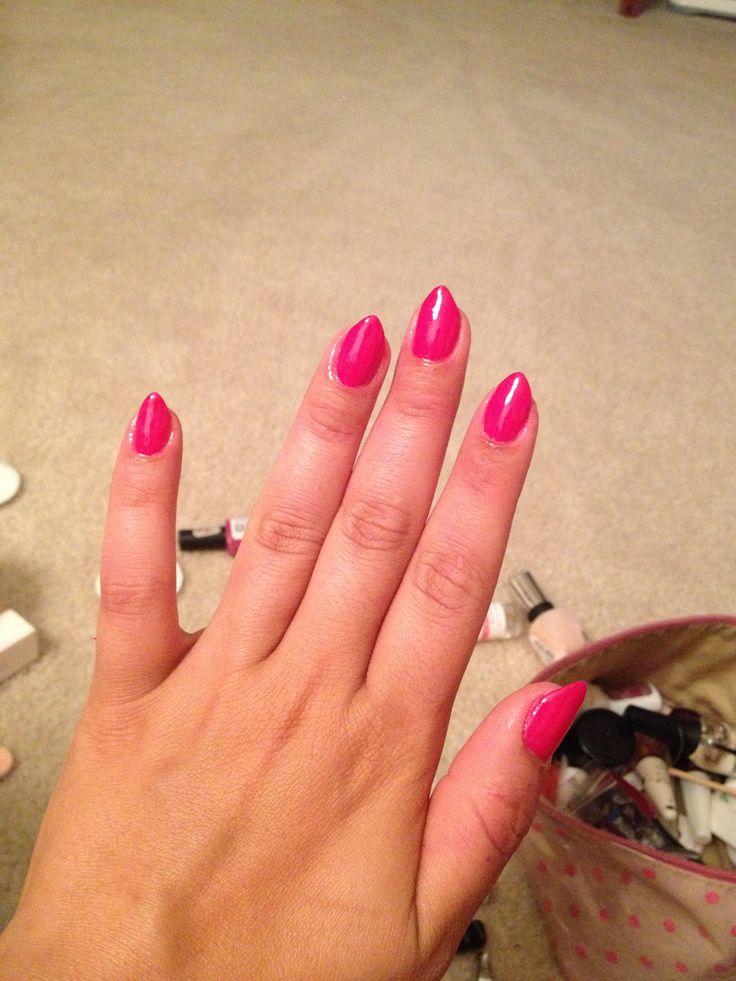pink natural stiletto nails nails nails nails pinterest
