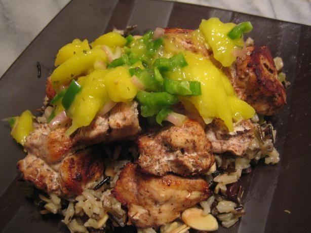 Jerk Chicken Thighs With Mango Salsa Recipe - Food.com - 240784