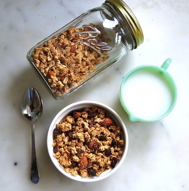 Maple Almond Granola - gluten free - myrecessionkitchen.com