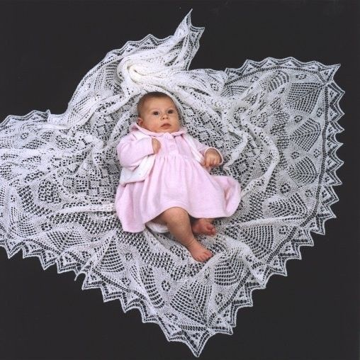 Free Knitting Pattern For Babies : baby shawl Baby Shawls Pinterest