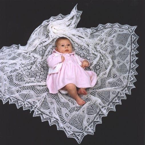 Knitting Pattern For Shetland Lace Shawl : baby shawl Baby Shawls Pinterest