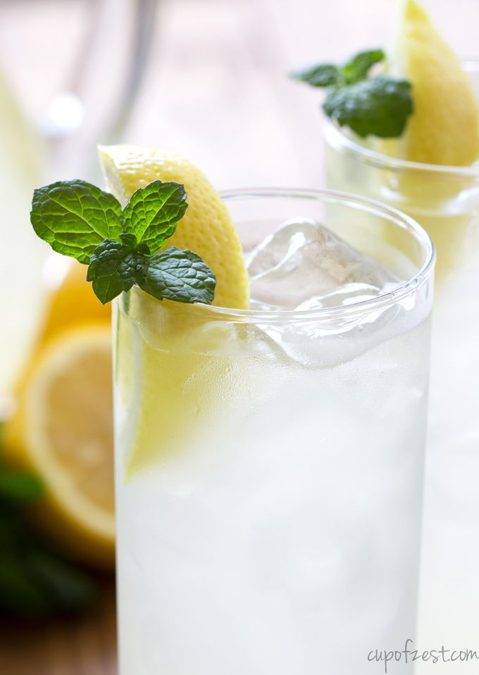 Mint Lemonade - A refresing and fun minty lemonade recipe great for a ...