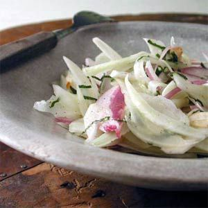 Shaved Fennel Salad with Almonds and Mint | MyRecipes.com