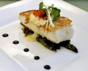 Potato-Crusted Halibut. Pat dry halibut fillet. Smother with ...