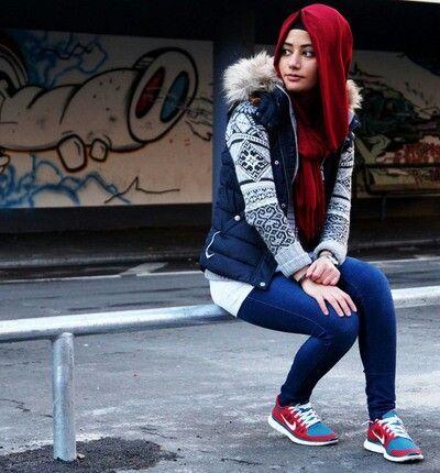 Sporty Hijab My Fashion Pinterest