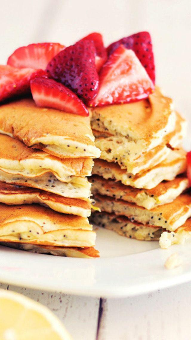 Lemon Poppy Seed Pancakes | Sweet Life | Pinterest