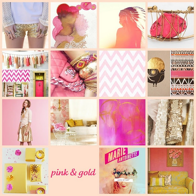 baby girl nursery inspiration. pink & gold
