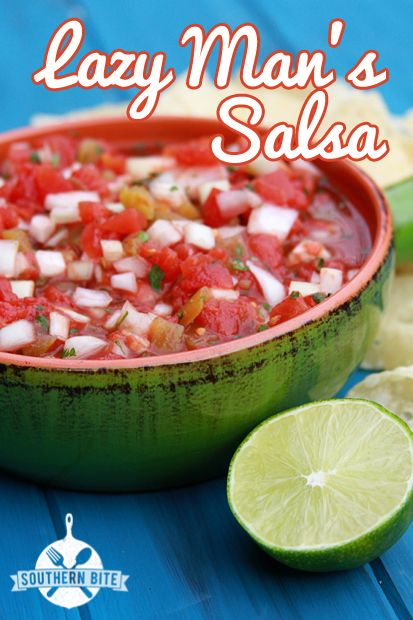 Lazy Man's Salsa - great any time of the year!