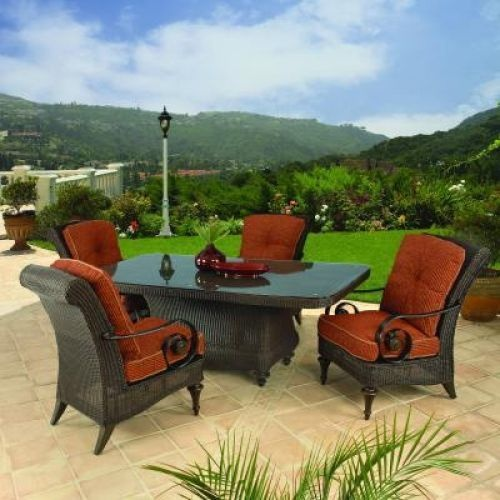 Orange Wicker Outdoor Dining Furniture Patio Decor Ideas Pinterest