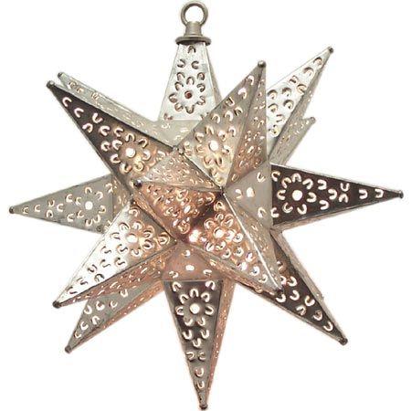 Mexican Flower Pierced Tin Star Light Cocinas R Sticas