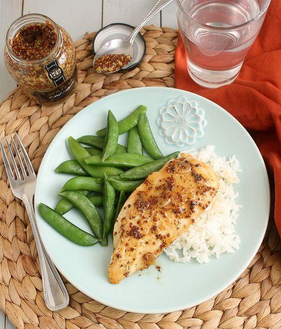 Maple-Mustard Glazed Chicken | recipes | Pinterest