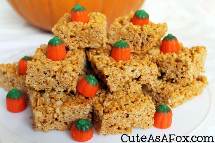 Pumpkin Spice Rice Krispies Treats | C is for Cookies | Pinterest
