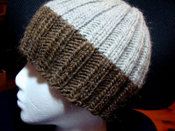 Knitting Pattern For Mens Ribbed Hat : Pin by Kay on Knit Pinterest