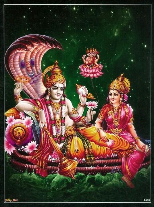 lord vishnu with laxmi - photo #2