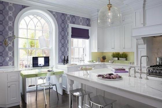 Lavender and white kitchen  kitchen  Pinterest