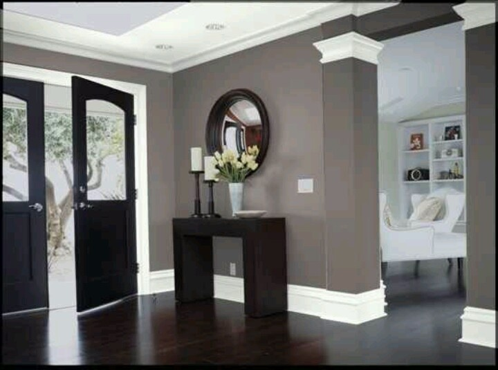 Gray walls white trim Love For my Home
