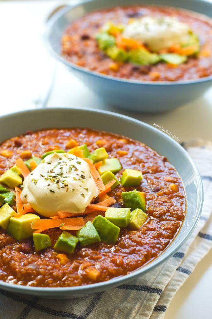 Super Satisfying Vegan Quinoa Chili   Recipe