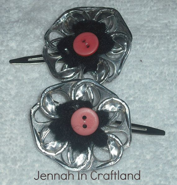 $9 matching flower clips