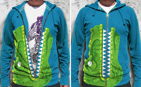 the t rex hoodie comes alive when the kid raises their arms kids will