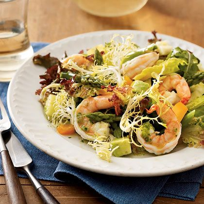 This Shrimp and Asparagus salad and homemade dressing are ready in 20 ...