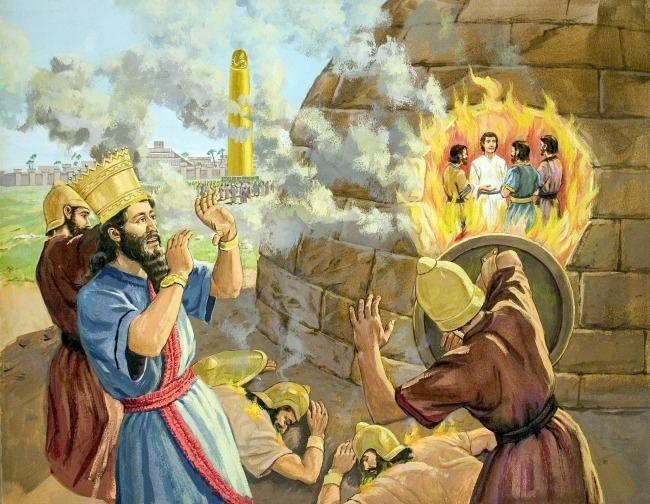 fiery furnace story illustration bible pinterest