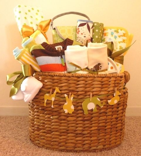 baby shower gift basket idea gift basket ideas pinterest