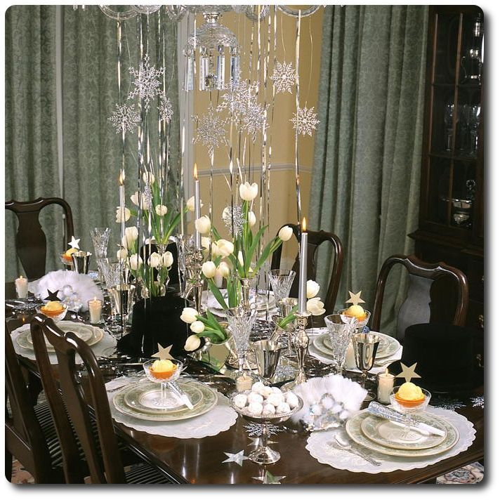 Holiday Decor -- New Year Table Setting