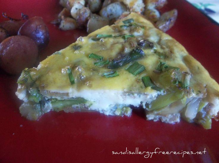 Spring Asparagus Crustless Quiche (Gluten Free/ Dairy Free)
