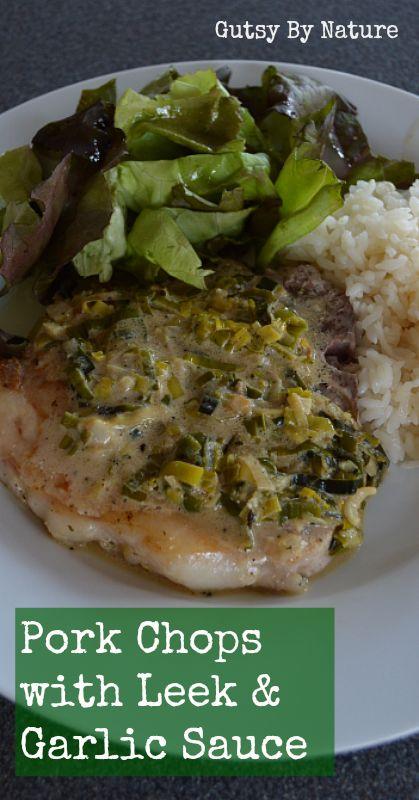Pork Chops with Leek and Garlic Sauce | Recipe