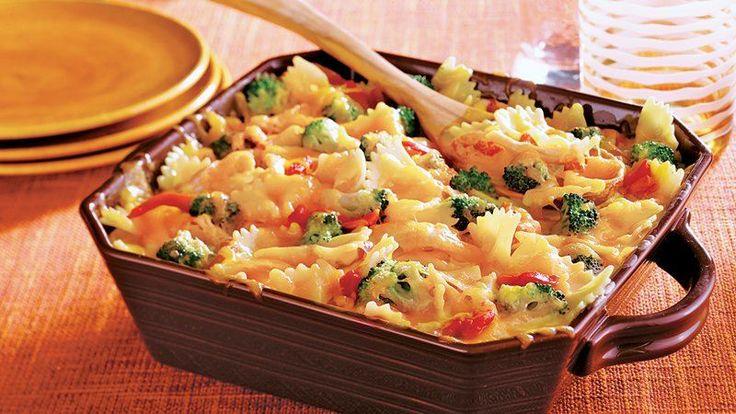 Chicken Veggie Alfredo Bake | Recipe