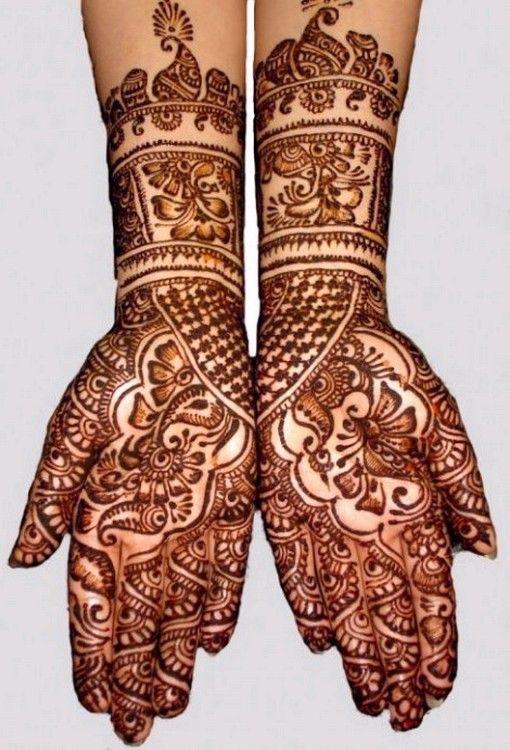 Mehndi Full Hand Pic : Full hand bridal mehndi henna mehendi pinterest
