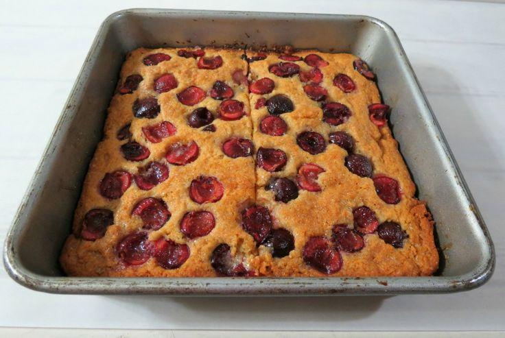 plus!Cherry Coffee Cake - A light, fluffy cake full of fresh cherries ...