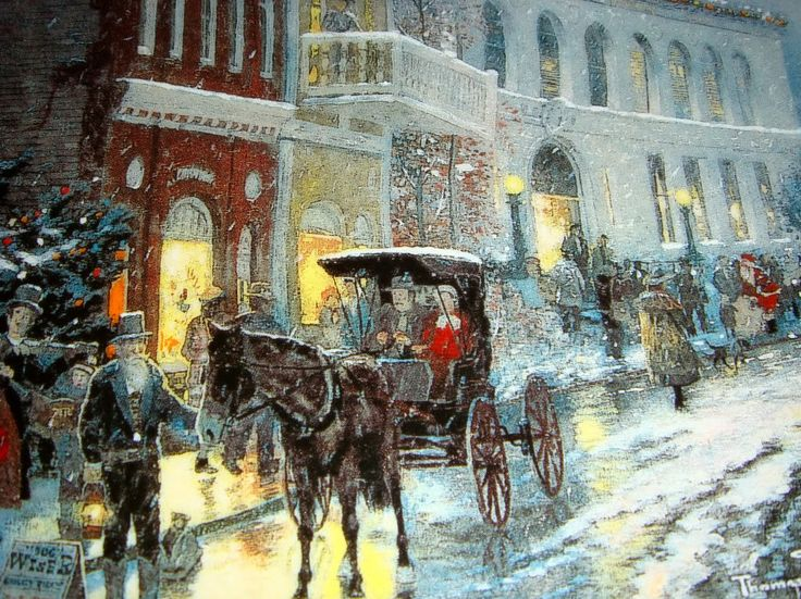 victorian christmas scenes - photo #44