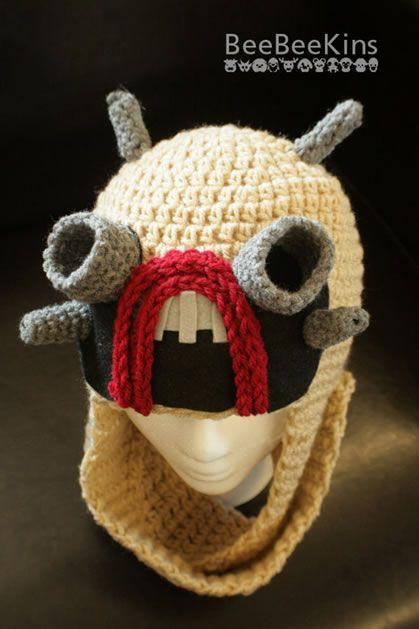 Crochet Tusken Raider Hat from Etsy Seller BeeBeeKnits