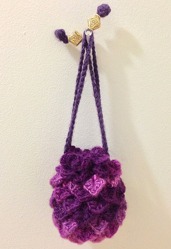 Dragon Dice Bag Crochet Pattern : Dragon Scale Crocheted Dice Bag-SMALL