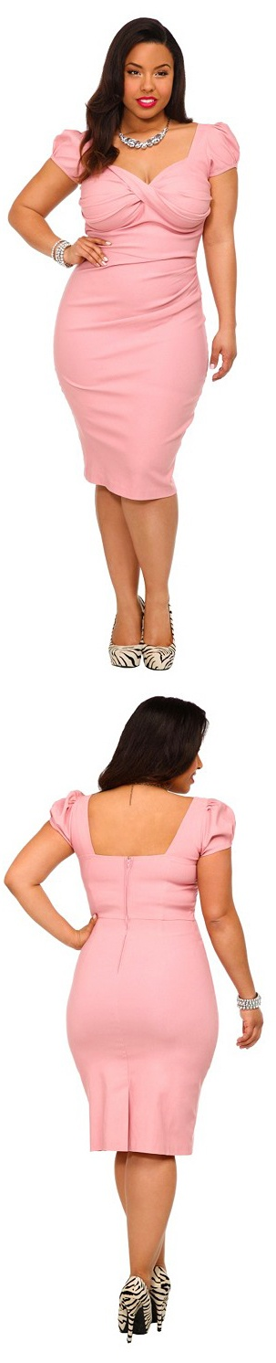 Pink Dress for Plus Size Women
