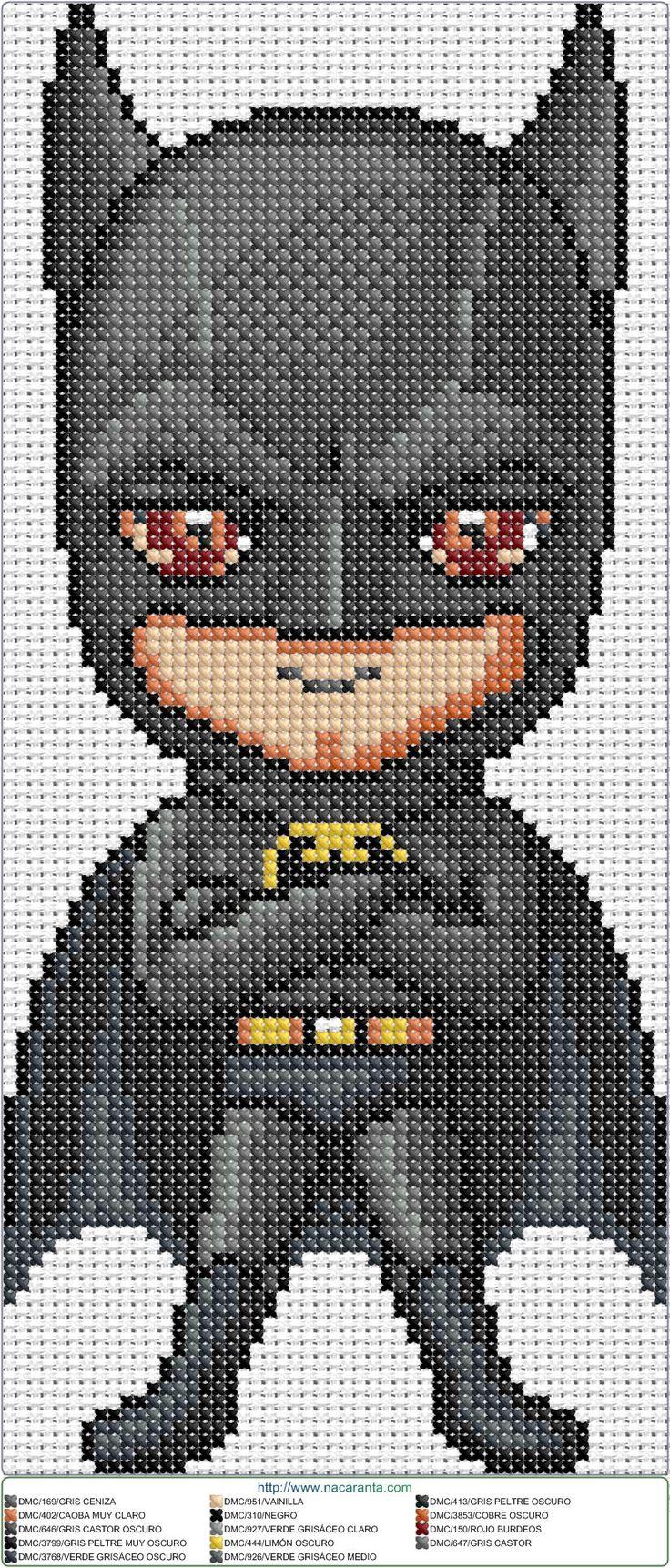 Схема вышивки бэтмена