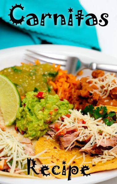 ... us her take on Mexican with a Carnitas Con Salsa Verde Cruda Recipe