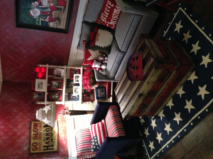 Americana Sitting Area In Basement Home Decor Pinterest