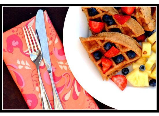 Maple, Walnut, and Flaxseed Waffles/Pancakes by TheMorrisseys