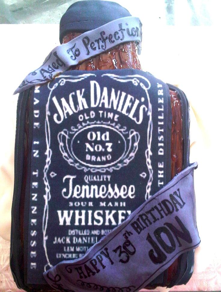 Jack Daniels Theme Shape Cake  Custom Cakes  Pinterest